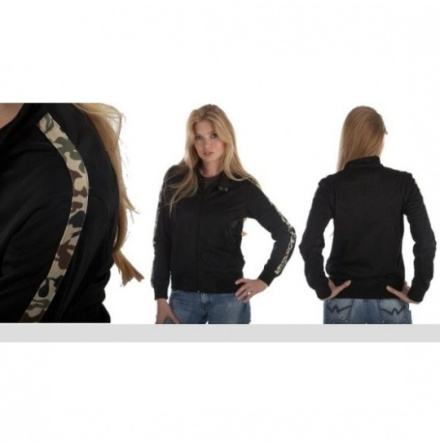 Ladies Camo Stripe Zip Thrue